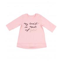 """Джемпер для девочек розового цвета """"Золотое сердце"""""""