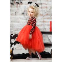 """Платье нарядное с длинным рукавом красного цвета """"хэллоуин"""""""