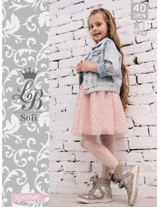 """Колготки нарядные белого цвета для девочек """"SOFI"""""""