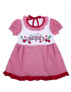Платье с коротким рукавом для малышей вишенки